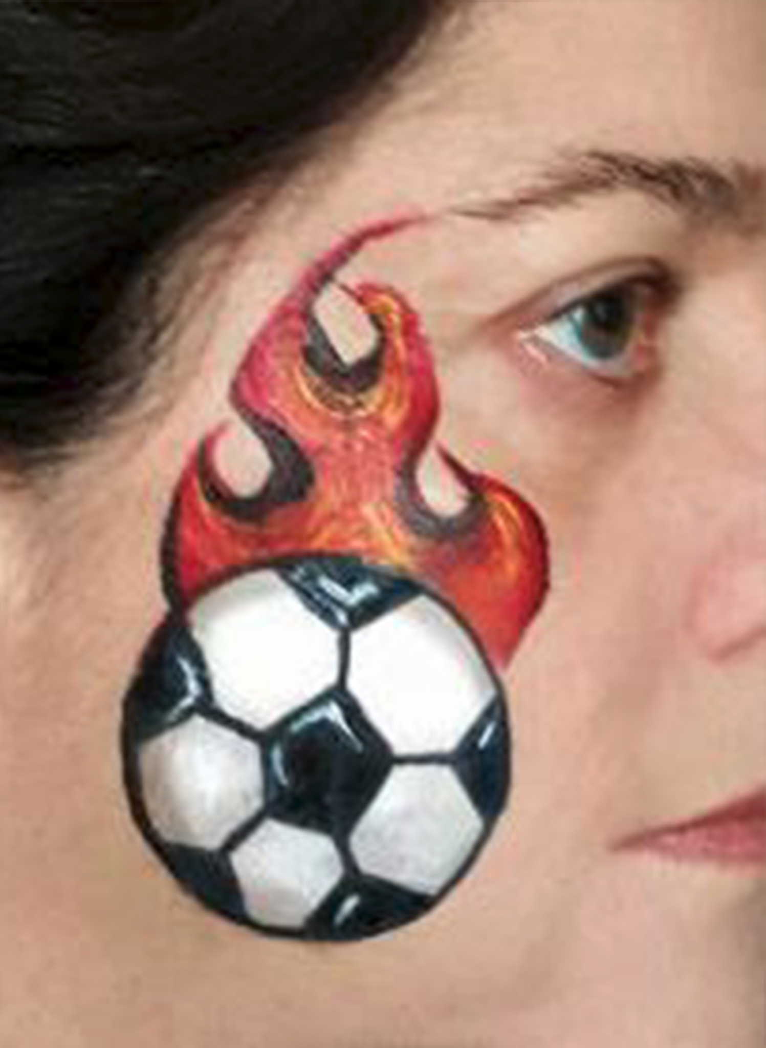 Soccer Face Painting Designs